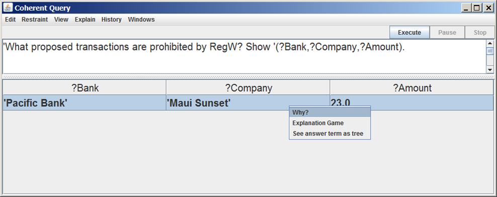 transaction query screenshot